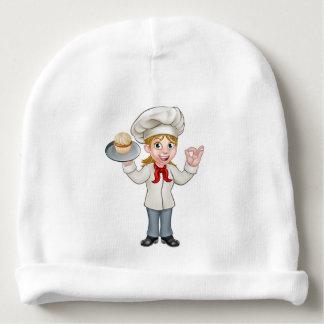 Gorrito Para Bebe Panadero o chef de repostería de sexo femenino de
