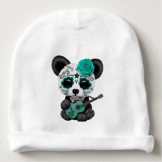 Gorrito Para Bebe Panda azul del cráneo del azúcar que toca la