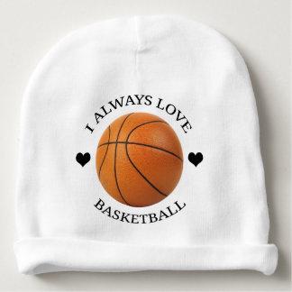 Gorrito Para Bebe pasión del deporte del amor del baloncesto