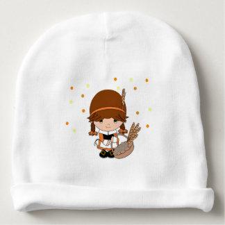 Gorrito Para Bebe Pequeña gorrita tejida del peregrino de los chicas