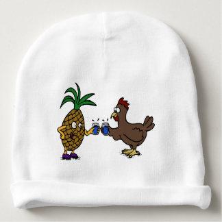 Gorrito Para Bebe Piña divertida y diseño del pollo