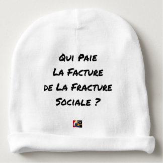 GORRITO PARA BEBE QUIÉN PAGA LA FACTURA DE LA FRACTURA SOCIAL