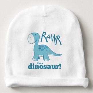 Gorrito Para Bebe RAWR soy un Diplodocus azul lindo del dinosaurio