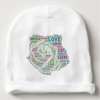 Gorrito Para Bebe Rosa ilustrado con palabra del amor