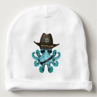 Gorrito Para Bebe Sheriff lindo del pulpo del bebé azul