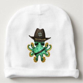 Gorrito Para Bebe Sheriff verde lindo del pulpo del bebé