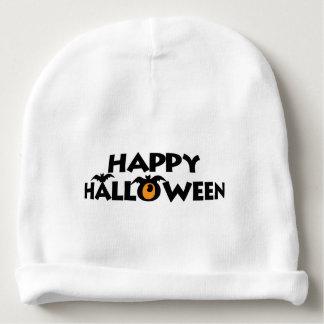 Gorrito Para Bebe Texto fantasmagórico del feliz Halloween con los