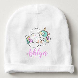 Gorrito Para Bebe Unicornio mágico místico en un nombre de la nube