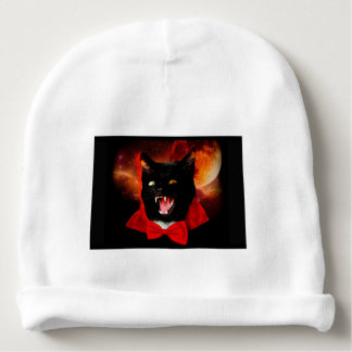 Gorrito Para Bebe vampiro del gato - gato negro - gatos divertidos