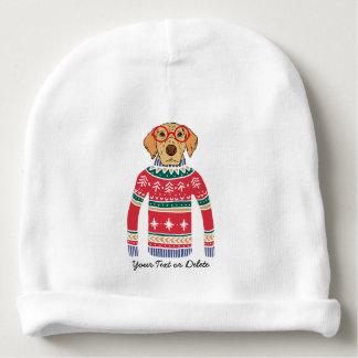 Gorrito Para Bebe Vidrios que llevan del perro divertido, suéter feo