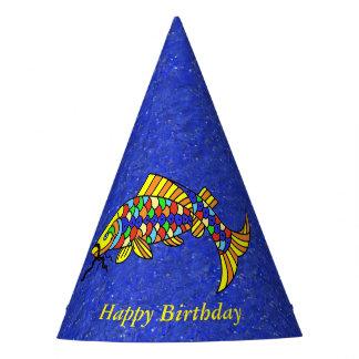 Gorro De Fiesta Azul colorido festivo brillante de la mirada de la
