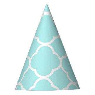 Gorro De Fiesta Azul elegante moderno geométrico de Quatrefoil