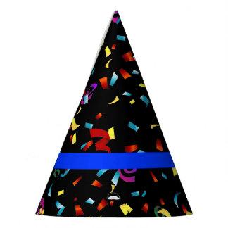 Gorro De Fiesta Blue Line fino limpia confeti temático del fiesta