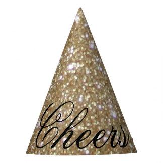 Gorro De Fiesta Brillo de oro del oro de las luces de Bokeh del