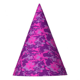 Gorro De Fiesta Camo rosado y púrpura