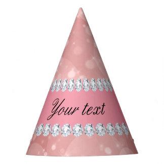 Gorro De Fiesta Chispas rosadas y diamantes de Bokeh