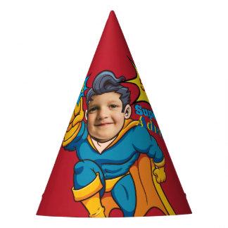 Gorro De Fiesta Cumpleaños de la plantilla de la foto del super