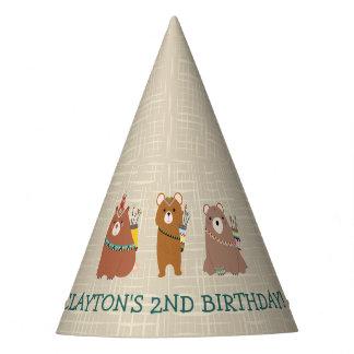 Gorro De Fiesta Cumpleaños del oso de la diversión de Beary