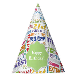 Gorro De Fiesta De la fiesta regalos únicos y 21ros de cumpleaños