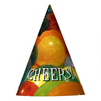 Gorro De Fiesta Diseño colorido del fiesta de los globos