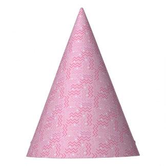 Gorro De Fiesta Diseño enrrollado de Memphis del rosa en colores