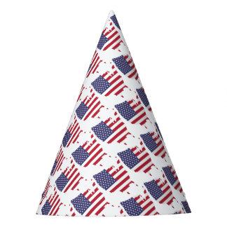 Gorro De Fiesta el arte de América confina la bandera de país de