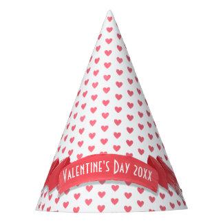 Gorro De Fiesta El día de San Valentín rojo y blanco enorme de los