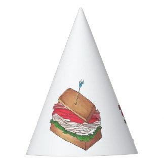 Gorro De Fiesta En el comensal divertido de Foodie del bocadillo