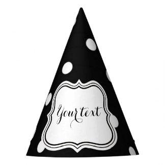 Gorro De Fiesta Encanto blanco y negro de los lunares moderno