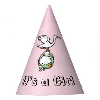 Gorro De Fiesta Es un chica que la cigüeña está trayendo al bebé