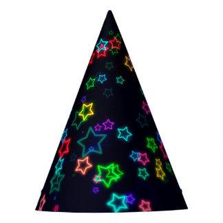 Gorro De Fiesta Estrella de neón del estallido colorido