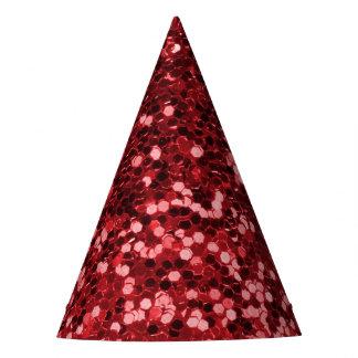 Gorro De Fiesta Falso purpurina rojo