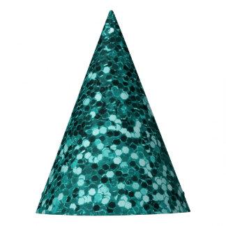 Gorro De Fiesta Falso purpurina verde azulado elegante
