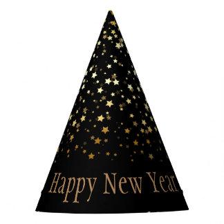 Gorro De Fiesta Feliz Año Nuevo de las estrellas de oro menudas