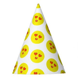 Gorro De Fiesta Fiesta de cumpleaños de Emoji del amor