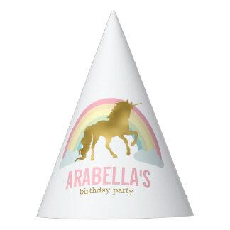 Gorro De Fiesta Fiesta de cumpleaños de los chicas del unicornio