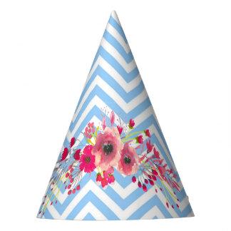 Gorro De Fiesta Flores y elegante lindo del encanto moderno del