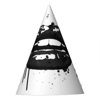 Gorro De Fiesta Fuentes blancos y negros del fiesta de la moda de