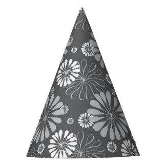 Gorro De Fiesta Gris de plata floral