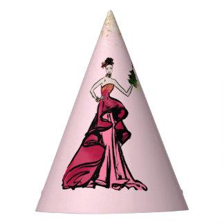 Gorro De Fiesta Ilustracion de la moda del navidad con el paquete