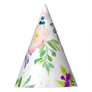 Gorro De Fiesta La acuarela delicada florece Peonies y Wisterias