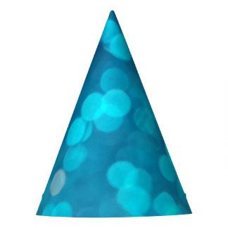 Gorro De Fiesta La turquesa azul elegante Bokeh circunda el modelo