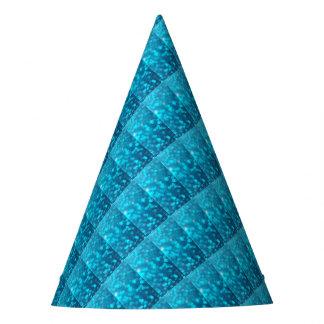 Gorro De Fiesta La turquesa azul elegante de Bokeh circunda el