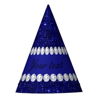 Gorro De Fiesta Lentejuelas con clase y diamantes de la marina de