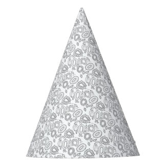 Gorro De Fiesta Línea floral caprichosa diseño del aerosol del