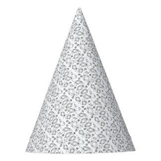 Gorro De Fiesta Línea floral diseño de la vaina del arte