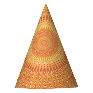 Gorro De Fiesta Mandala anaranjada