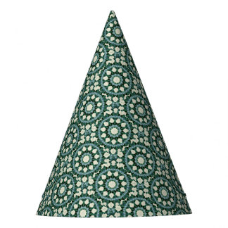 Gorro De Fiesta Mandala del azul verde y cerúleo de Sacramento