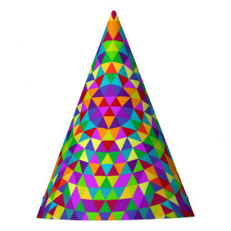 Gorro De Fiesta Mandala feliz 2 del triángulo