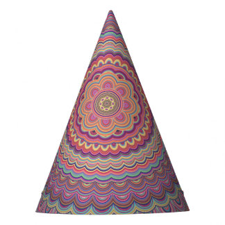 Gorro De Fiesta Mandala geométrica del Hippie